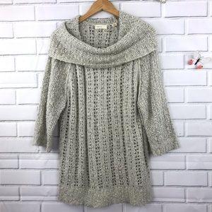 Anthropologie Sleeping On Snow Cowl Neck Sweater